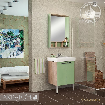 Комплект мебели Акватон Йорк 60 салатовый/дуб Сонома