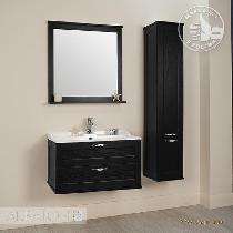 Комплект мебели Акватон Леон 80 ясень черный