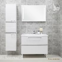 Комплект мебели Акватон Турин 100 c серебристой панелью