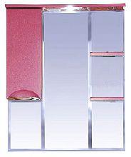Зеркало-шкаф Misty Жасмин 83 П-Жас02085-122СвЛ левая красный