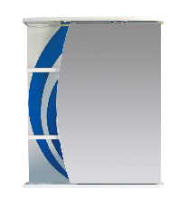 Зеркало-шкаф Misty Каролина 60 П-Крл02060-305СвП правая синий