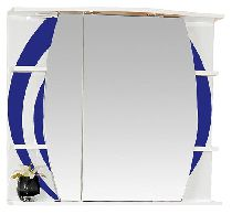 Зеркало-шкаф Misty Каролина 80 П-Крл02080-305СвЛ левая синий