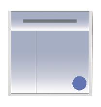 Зеркало Misty Джулия 85 Л-Джу03085-1110 универсальная синий