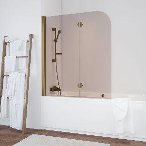 Шторка на ванну Vegas-Glass  E2V 120 05 05 L стекло бронза, профиль бронза