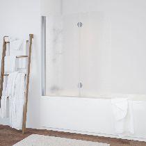 Шторка на ванну Vegas-Glass  E2V 120 08 02 L стекло шиншилла, профиль хром