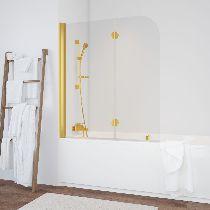 Шторка на ванну Vegas-Glass  E2V 120 09 01 L стекло прозрачное, профиль золото