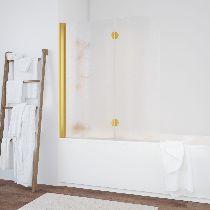 Шторка на ванну Vegas-Glass  E2V 120 09 02 L стекло шиншилла, профиль золото