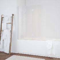 Шторка на ванну Vegas-Glass  E2V 120 01 02 L стекло шиншилла, профиль белый