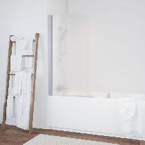Шторка на ванну Vegas-Glass  EV 76 07 02 R стекло шиншилла, профиль матовый хром