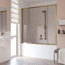 Шторка на ванну Vegas-Glass Z2V 160 05 05  стекло бронза, профиль бронза