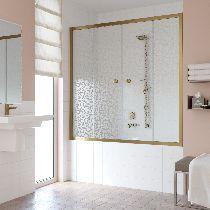Шторка на ванну Vegas-Glass Z2V 150 05 R03  стекло фея, профиль бронза