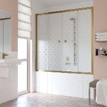 Шторка на ванну Vegas-Glass Z2V 160 05 R05  стекло флёр-де-лис, профиль бронза