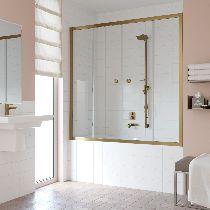 Шторка на ванну Vegas-Glass Z2V 180 05 01  стекло прозрачное, профиль бронза