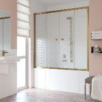 Шторка на ванну Vegas-Glass Z2V 150 05 R04  стекло ретро, профиль бронза