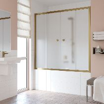 Шторка на ванну Vegas-Glass Z2V 180 05 10  стекло сатин, профиль бронза