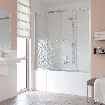 Шторка на ванну Vegas-Glass Z2V 180 08 R03  стекло фея, профиль хром