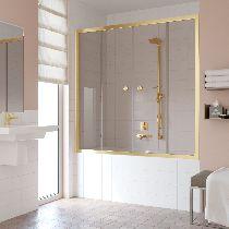 Шторка на ванну Vegas-Glass Z2V 150 09 05  стекло бронза, профиль золото