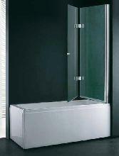 Шторка для ванны Cezares VERONA-W-V-21-120-P-Cr-R матовое