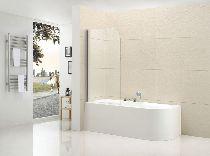 Шторка для ванны Cezares ECO-O-V-1-80/140-C-Cr-L прозрачное
