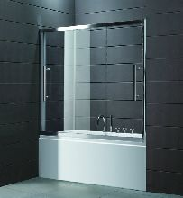 Шторка для ванны Cezares TRIO-D-V-22-200/145-C-Cr прозрачное