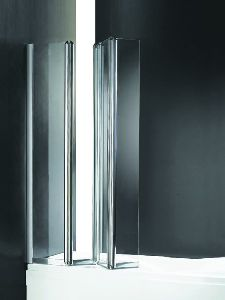 Шторка для ванны Cezares TRIO-W-V-3-90/140-P-Cr-L матовое