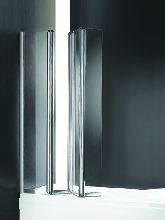 Шторка для ванны Cezares TRIO-W-V-3-90/140-P-Cr-R матовое
