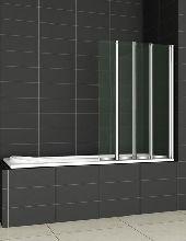 Шторка для ванны Cezares PRATICO-V-4-100/140-C-Cr прозрачное