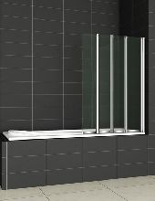 Шторка для ванны Cezares PRATICO-V-4-100/140-P-Cr-R матовое