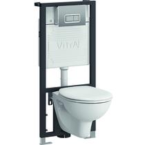 Комплект подвесного унитаза+инсталляция Vitra Arkitekt 9005B003-7211