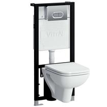 Комплект инсталляция+унитаз Vitra S20 9004B003-7204 сиденье микролифт