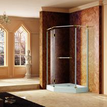 Душевой угол RGW VI-81 90x90x195, цвет профиля белый-золото, цвет стекла прозрачное (02048199-18)
