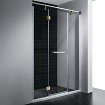 Душевая дверь RGW VI-02, цвет профиля белый-золото, цвет стекла прозрачное, 130x195