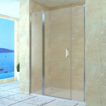 Душевая дверь RGW LE-09, цвет профиля хром, цвет стекла прозрачное, 130x195