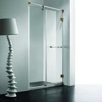 Душевая дверь RGW VI-01, цвет профиля белый-золото, цвет стекла прозрачное, 100x195
