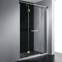 Душевая дверь RGW VI-02, цвет профиля белый-золото, цвет стекла прозрачное, 180x195
