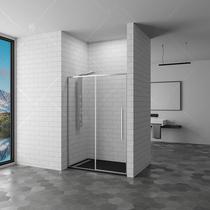 Душевая дверь RGW SV-12, цвет профиля хром, цвет стекла прозрачное, 140x195