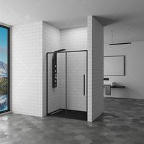 Душевая дверь RGW SV-12B, цвет профиля черный, цвет стекла прозрачное, 140x195