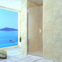 Душевая дверь RGW LE-03, цвет профиля хром, цвет стекла прозрачное, 90x195