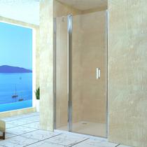 Душевая дверь RGW LE-04, цвет профиля хром, цвет стекла прозрачное, 120x195