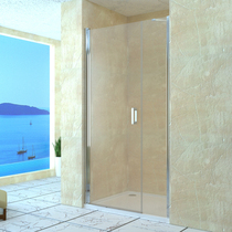 Душевая дверь RGW LE-08, цвет профиля хром, цвет стекла прозрачное, 130x195