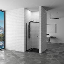 Душевая дверь RGW PA-02B, цвет профиля черный, цвет стекла прозрачное, 80x185