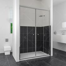 Душевая дверь RGW CL-10, цвет профиля хром, цвет стекла прозрачное, 130x185
