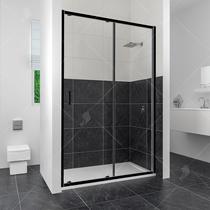 Душевая дверь RGW CL-14B, цвет профиля черный, цвет стекла прозрачное, 100x185