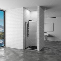 Душевая дверь RGW SV-02, цвет профиля хром, цвет стекла прозрачное, 100x200