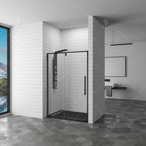 Душевая дверь RGW SV-03B, цвет профиля черный, цвет стекла прозрачное, 100x200