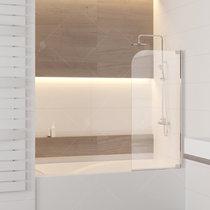 Шторка на ванну RGW SC-01, профиль хром, стекло прозрачное 80x150 (03110108-11)