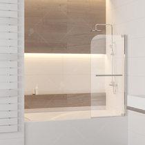 Шторка на ванну RGW SC-02, профиль хром, стекло прозрачное 80x150 (03110208-11)
