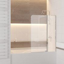 Шторка на ванну RGW SC-03, профиль хром, стекло прозрачное 110x150 (03110311-11)