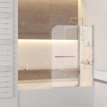 Шторка на ванну RGW SC-04, профиль хром, стекло прозрачное 110x150 (03110411-11)