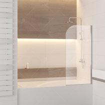 Шторка на ванну RGW SC-05, профиль хром, стекло прозрачное 80x150 (03110508-11)